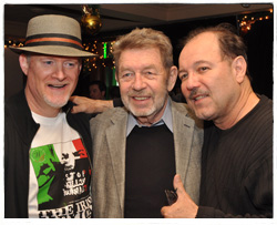 T.J. English with Pete Hamill and Ruben Blades.